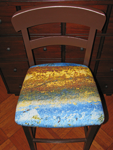 Bar Stool with melissaAnne Fabric